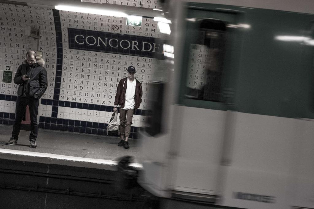 """Paris station de metro """"Concorde"""""""
