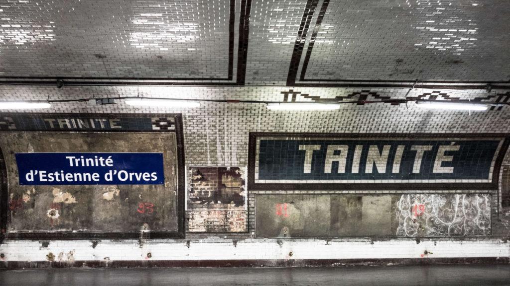 """Paris metro """"Trinite"""""""